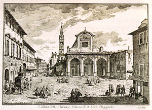 San Pier Maggiore, Florence - Giuseppe Zocchi, View of the church in 1744