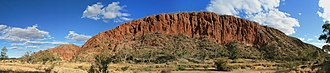 MacDonnell Ranges - Glen Helen Gorge in the MacDonnell Ranges