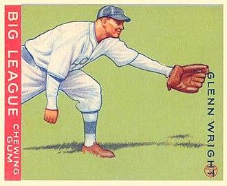 Glenn Wright - 1933 Goudey baseball card of Glenn Wright