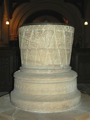 Glympton - Norman font of St Mary's