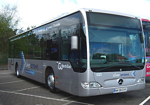 Go North East - Mercedes-Benz Citaro in Silver Arrows livery