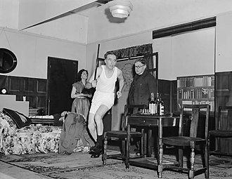 Amateur theatre - Gobowen Amateur Dramatic Society's presentation of See How They Run, 1954