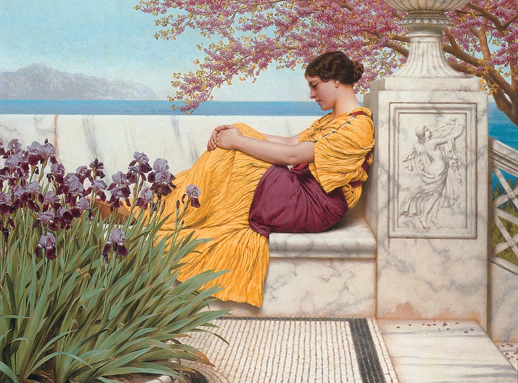Godward-Under the Blossom that Hangs on the Bough-1917.jpg