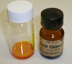Gold - Gold(III) chloride solution in water