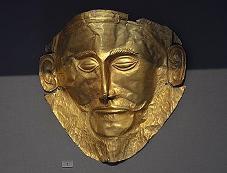 "Greeks - Mycenaean Funeral mask known as ""Agamemnon Mask"", 16th c. BC"