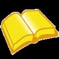Golden open book.png