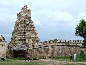 Ranganathaswamy Temple, Srirangapatna - Image: Gopura and prakara of Sri Ranganathaswamy temple on the island of Srirangapatna near Mysore in India