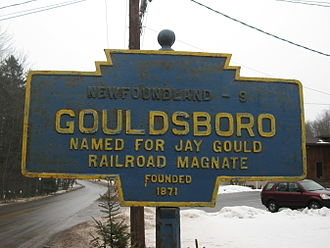 Jay Gould - Keystone Marker for Gouldsboro, Pennsylvania, named after Gould.