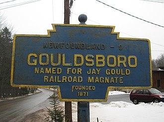 Gouldsboro, Pennsylvania - Gouldsboro's Keystone Marker.