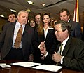 Governor Jeb Bush signs the Earnhardt Family Protection Act.jpg