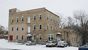 Grafton, Wisconsin - Image: Grafton Flour Mill front Dec 09
