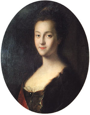 1744 in Russia - Young Catherine soon after her arrival in Russia, by Louis Caravaque