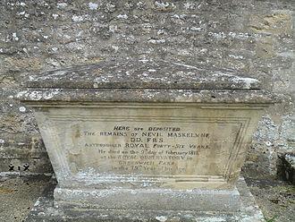 Nevil Maskelyne - Maskelyne's tomb in Purton, Wiltshire