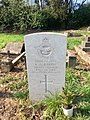 Gravestone of Sergeant (Wireless Operator) Kenneth David Jenkins of the Royal Air Force Volunteer Reserve at St Mary's Church, Whitchurch, April 2020.jpg