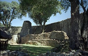 Great Zimbabwe ruins, found in the district close to the city of Masvingo