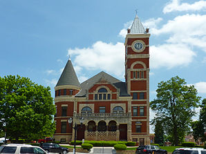 Das historische Green County Courthouse in Monroe