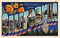 Greetings from California, Pictorial Wonderland, art-tone series (NBY 7644).jpg
