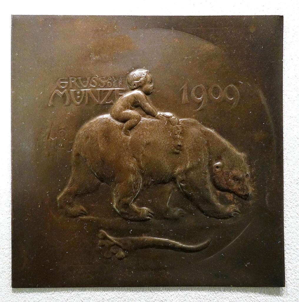 Médaille art nouveau dans le musée Bode à Berlin.