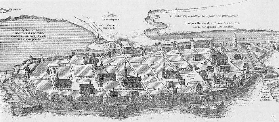 Greifswald im Mittelalter (Rekonstruktion Theodor Pyl)