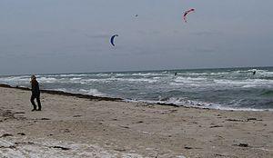 Grenaa Beach - Image: Grenå Strand vinter 1