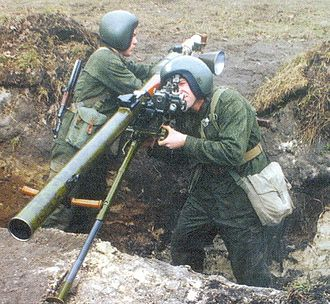Recoilless rifle - A Polish SPG-9M.