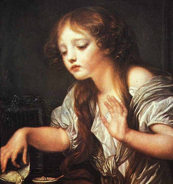 Fichier:Greuze- Young Girl Weeping for her Dead Bird-1759.jpg