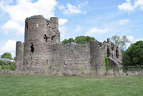 Grosmont Castle from the south, 2011.jpg