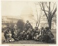 Group of Pueblo Indians photographed at the U.S. Capitol today. This is the first time since the Lincoln Administration that the Pueblo Indians have sent a delegation to Wash. They appeared LCCN2004669814.tif