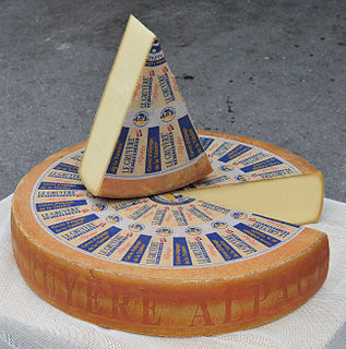 Gruyère cheese A hard yellow cheese from Switzerland