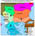 Guerres balkaniques - situation apres la premiere guerre.png
