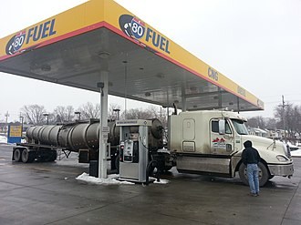 Natural gas vehicle - Truck running with Guidetti CNG system