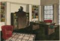 Guillemard Marcel, bureau-bibliothèque, projet à la gouache, Salon des Artistes décorateurs de 1924.png