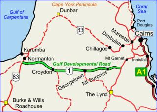 Gulf Developmental Road road in Queensland