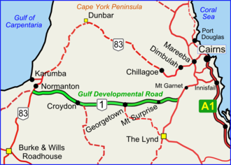 Gulf Developmental Road - Gulf Developmental Road (green on black)