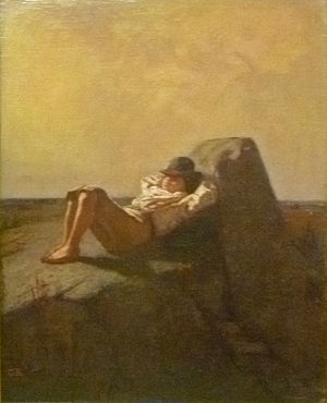 Louis Gustave Ricard - Resting boy