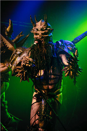 Dave Brockie - Brockie in character as Oderus Urungus in 2010