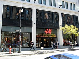 Fast fashion - Image: H&Mdowntown Montreal