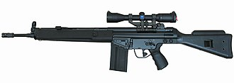 Heckler & Koch HK41 - HK41 rifle with mounted scope