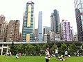 HK 香港 中山紀念公園 Sun Yat Sen Memorial Park Lawn view Sai Ying Pun Guangdong Finance Building May-2012.jpg