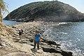 HK ALC 鴨脷洲 Ap Lei Chau 東博寮海峽 East Lamma Channel 鴨脷排 Ap Lei Pai view 香港仔海峽 Aberdeen Channel rock beach November 2019 IX2 09.jpg