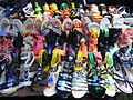 HK CWB Jardine's Crescent morning outdoor market stall footwear goods Aug-2012.JPG