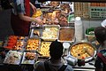 HK Wan Chai 柯布連道 O'brien Road night Lockhard Road Hong Kong Building sidewalk shop street snack food Sept 2017 IX1 02.jpg