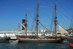 Replik der HMS Surprise im Maritime Museum of San Diego