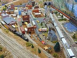 Un exemple de maquette ferroviaire.