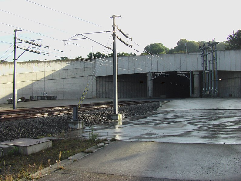 HSL 3 high speed train link, Soumagne Train Tunnel, West entrance in Vaux-sous-Chèvremont, Chaudfontaine (Belgium)