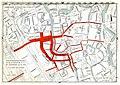 HUA-212088-Plattegrond van het noordelijke helft van de binnenstad van Utrecht; met weergave van het stratenplan en de voetgangersstromen op zaterdagmiddag 24 ok.jpg