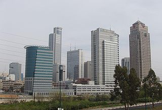 Silicon Wadi area with a high concentration of high-tech industries in Israel