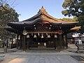 Haiden of Umi Hachiman Shrine 4.jpg