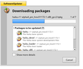 Haiku OS's SoftwareUpdater installing updates.png
