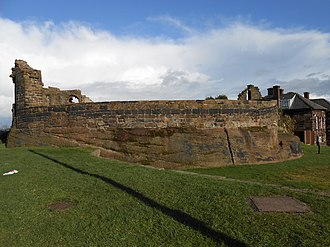 Halton Castle - Part of Halton Castle ruins in 2006